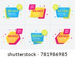 weekend sale banner  special... | Shutterstock .eps vector #781986985