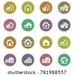 house type vector icons for... | Shutterstock .eps vector #781988557
