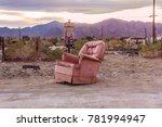 old armchair in salton city ... | Shutterstock . vector #781994947