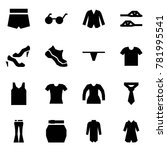 origami style icon set   shorts ... | Shutterstock .eps vector #781995541
