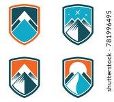 mountain shield abstract logo... | Shutterstock .eps vector #781996495