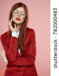 cute  beautiful  stylish woman... | Shutterstock . vector #782000485