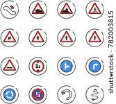 line vector icon set  ... | Shutterstock .eps vector #782003815