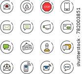 line vector icon set   star... | Shutterstock .eps vector #782003851