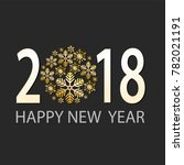 happy new 2018 year greeting... | Shutterstock .eps vector #782021191