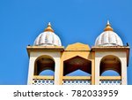 the twin domes of a hindu