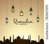 vector ramadan illustration... | Shutterstock .eps vector #782037091