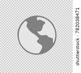 globe vector icon eps 10. earth ... | Shutterstock .eps vector #782038471