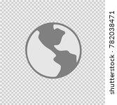 globe vector icon eps 10. earth ... | Shutterstock .eps vector #782038471