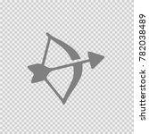 bow and arrow vector icon eps... | Shutterstock .eps vector #782038489