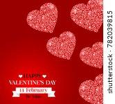 happy valentine's day banner.... | Shutterstock . vector #782039815