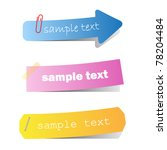 set of colored ribbons on paper | Shutterstock .eps vector #78204484