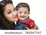 lovely mother and cute daughter ... | Shutterstock . vector #782047747