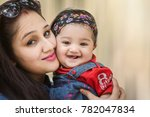other and daughter hugging and... | Shutterstock . vector #782047834