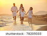 happy young family have fun on... | Shutterstock . vector #78205033