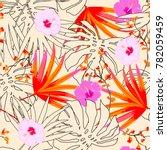 vector seamless beautiful... | Shutterstock .eps vector #782059459