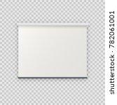 realistic blank empty... | Shutterstock . vector #782061001