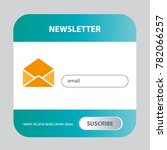 vector template email subscribe.... | Shutterstock .eps vector #782066257