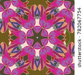 floral seamless pattern with... | Shutterstock . vector #782067754