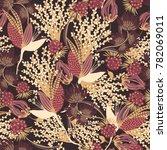 floral seamless pattern. hand... | Shutterstock .eps vector #782069011