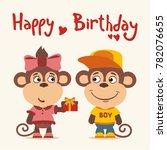 happy birthday  greeting card ... | Shutterstock .eps vector #782076655