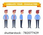 office worker. front  side ... | Shutterstock .eps vector #782077429