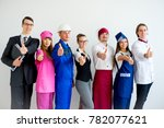 people of different professions   Shutterstock . vector #782077621