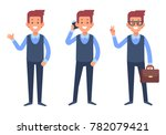 business man. manager character.... | Shutterstock .eps vector #782079421