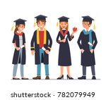 group of graduating students... | Shutterstock .eps vector #782079949