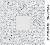 electronic circuit board... | Shutterstock .eps vector #782089669
