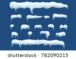 snow ice icicle cap covering... | Shutterstock .eps vector #782090215