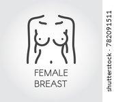 female breast line icon.... | Shutterstock .eps vector #782091511