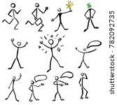 vector set with stick figures.  | Shutterstock .eps vector #782092735