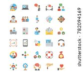 collection of human resource... | Shutterstock .eps vector #782094169