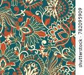 floral vector illustration in... | Shutterstock .eps vector #782095909