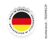 made in germany   hergestellt... | Shutterstock .eps vector #782098129