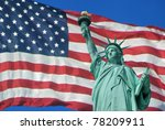 Statue Of Liberty With The U.s...