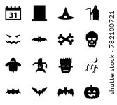 origami style icon set   31... | Shutterstock .eps vector #782100721