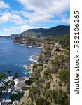 hobart tasmania cliff australia | Shutterstock . vector #782106265