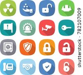 flat vector icon set   nuclear... | Shutterstock .eps vector #782107009
