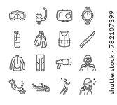 Scuba Diving Icon Set. Include...