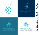 hair removal logo and icon  ... | Shutterstock .eps vector #782110054