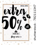 winter sale banner with... | Shutterstock .eps vector #782111347