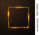 golden frame with lights... | Shutterstock .eps vector #782113051