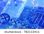 security features on banknote...   Shutterstock . vector #782113411