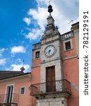 Small photo of Popoli (L'Aquila, Abruzzi, Italy): historic buildings in Piazza della Liberta, the main square of the city