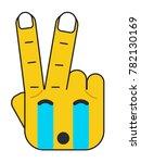 """victory"" hand illustration.... | Shutterstock .eps vector #782130169"
