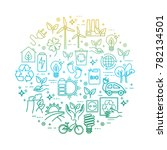 eco lifestyle  zero waste...   Shutterstock .eps vector #782134501