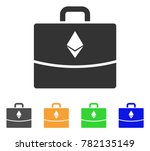ethereum accounting case icon....   Shutterstock .eps vector #782135149