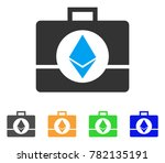 ethereum crystal case icon....   Shutterstock .eps vector #782135191